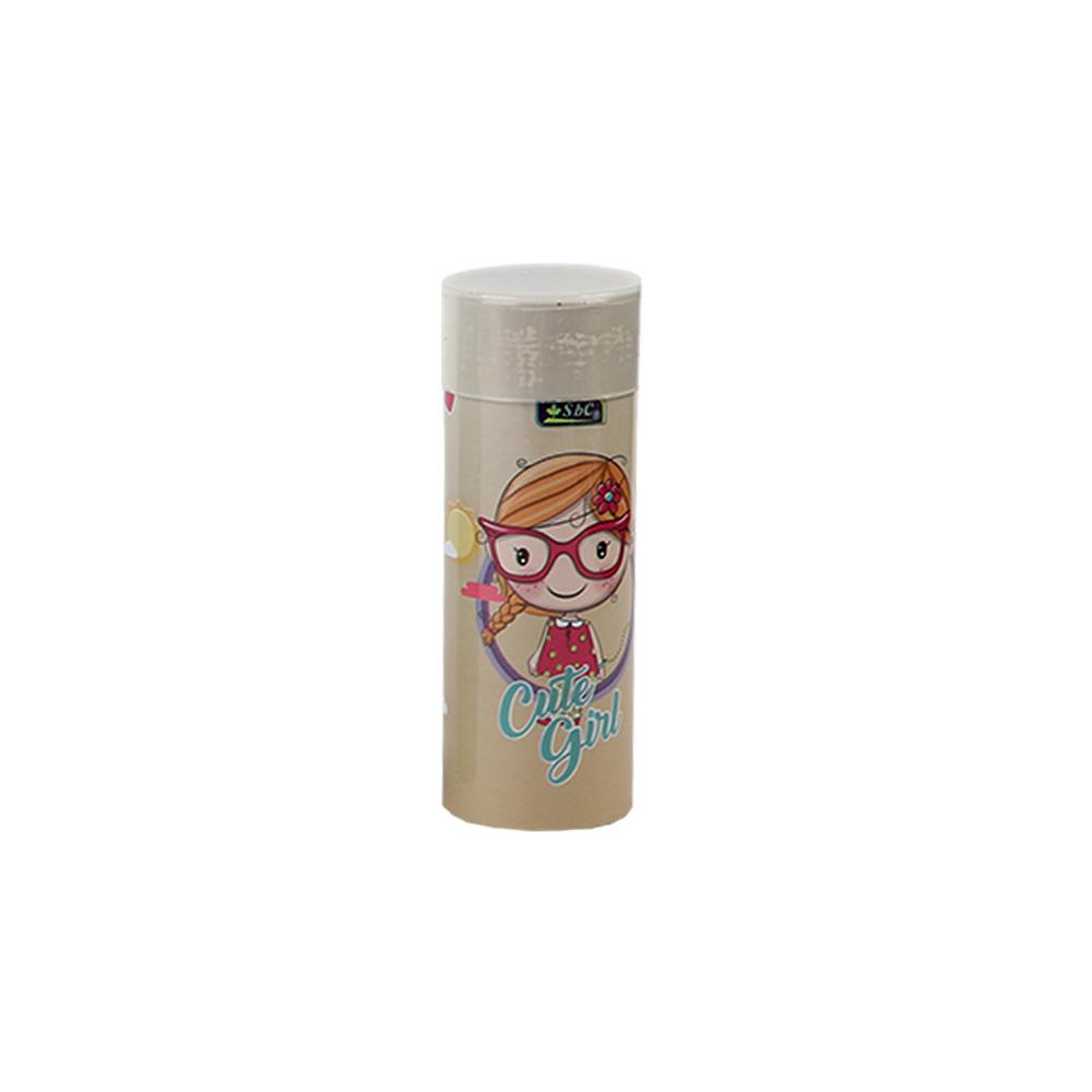 ( Cute girl ) الوان خشبية علبة اسطوانية صغيرة مكونة من 12 لون بشخصية متجر 15 وأقل