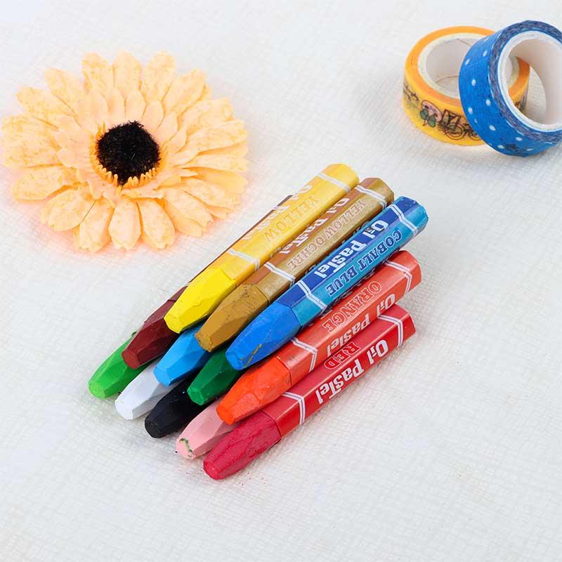 علبة الوان شمعية باستيل متعددة الألوان مكونة من 12 لون أزرق متجر 15 وأقل
