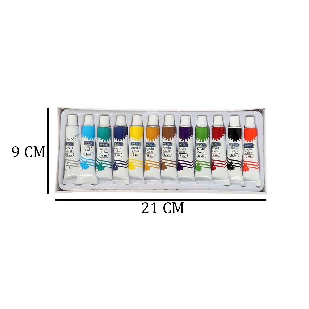 مجموعة ألوان زيتية للرسم متعددة الألوان 6 ملم 12لون متجر 15 وأقل