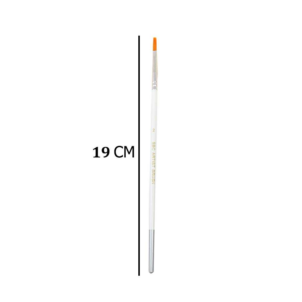 White Oil Color Paint Brush With Size 2 متجر 15 وأقل