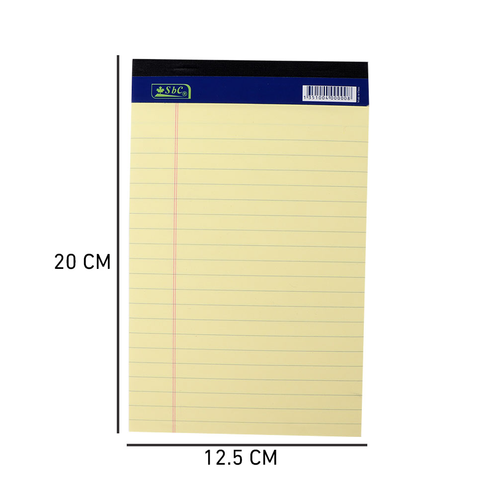 Yellow Observation Paper Adhesive With Size A5 متجر 15 وأقل