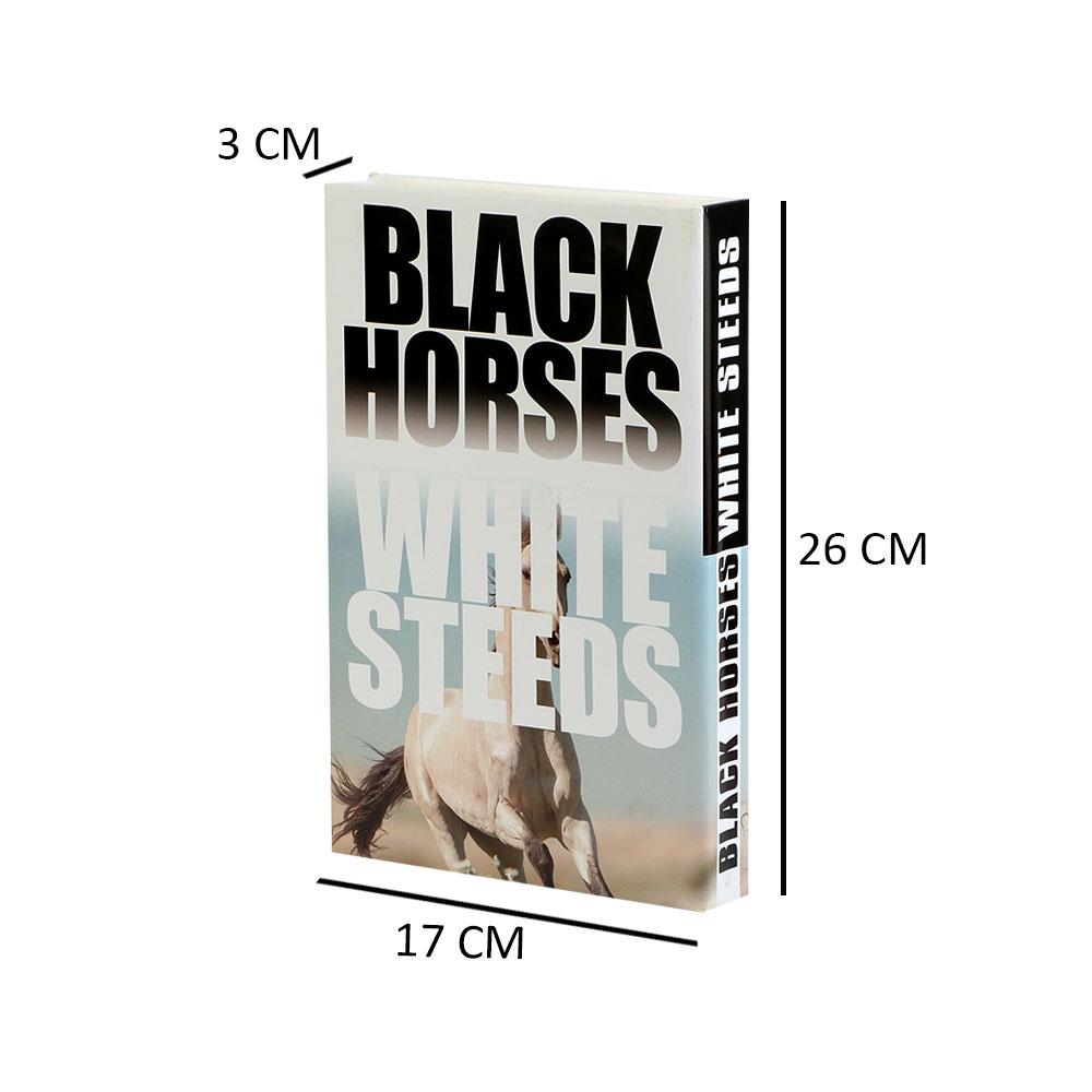 كتاب للديكور وللزينة بوكس على شكل كتاب وهمي لون أبيض متجر 15 وأقل