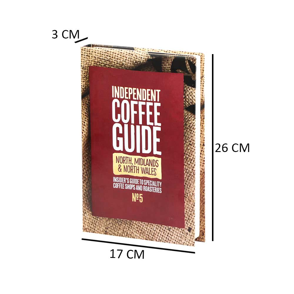 كتاب للديكور وللزينة بوكس على شكل كتاب وهمي لون أحمر وحواف بنية متجر 15 وأقل