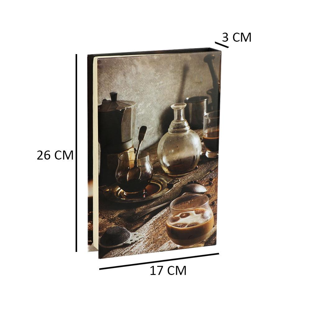 كتاب للديكور وللزينة بوكس على شكل كتاب وهمي لون بني متجر 15 وأقل