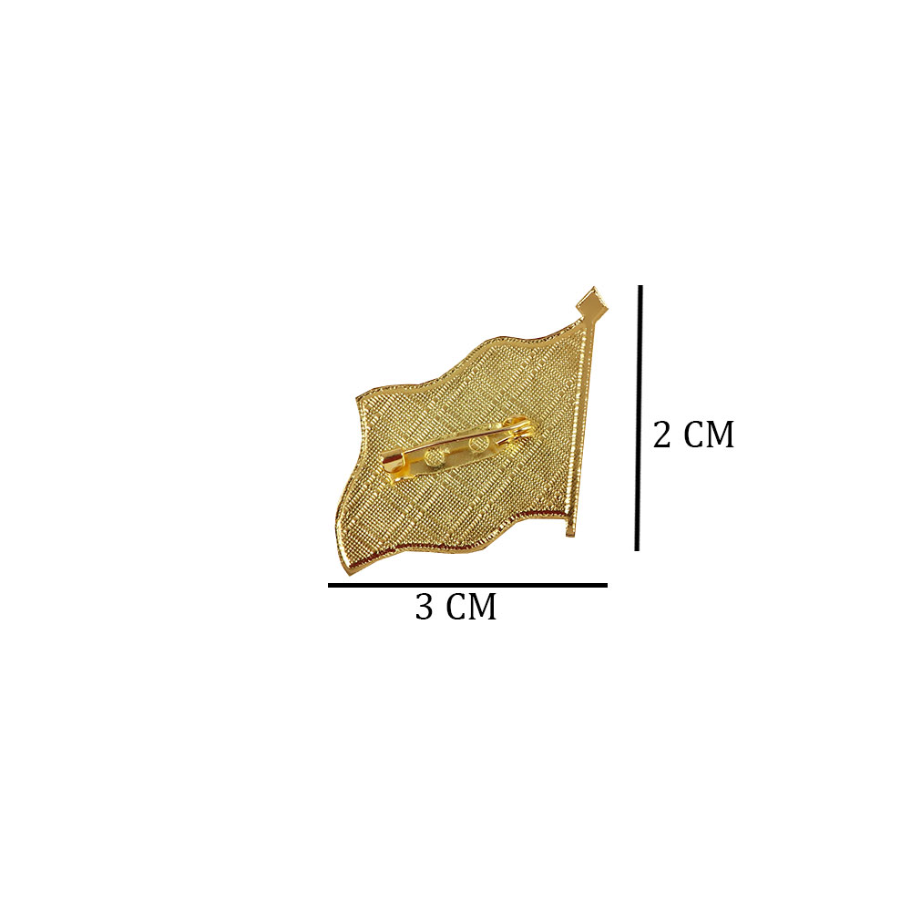 Brooch - Clothing Pin With Vision Logo 2030 - White With Gold Edges 1 Pc متجر 15 وأقل