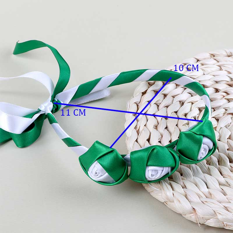 Hair Collar For the National Day Flexible In the Form Of roses made From Tapes متجر 15 وأقل