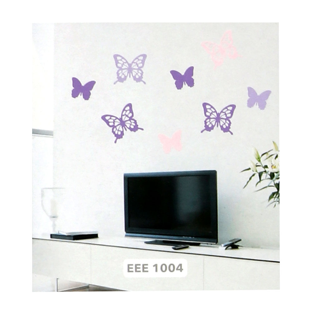 Smart Walls Stickers With Butterfly Design Colored With Purple And Pink متجر 15 وأقل