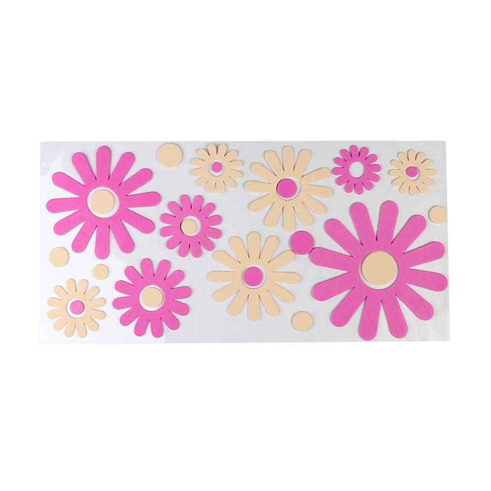 ملصق جداري انيق بارز بتصميم زهور بنفسجي و بيج متجر 15 وأقل