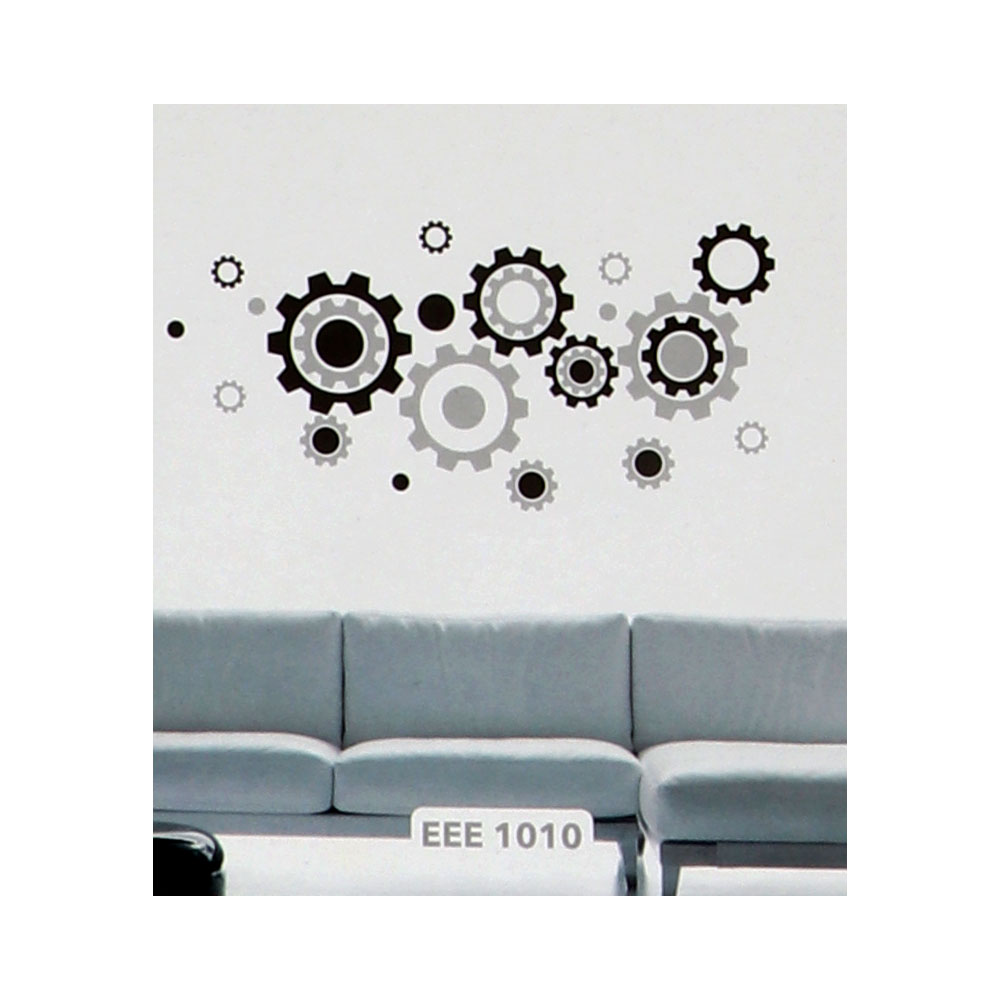 Smart Walls Stickers With Circle Design Colored With White And Black متجر 15 وأقل