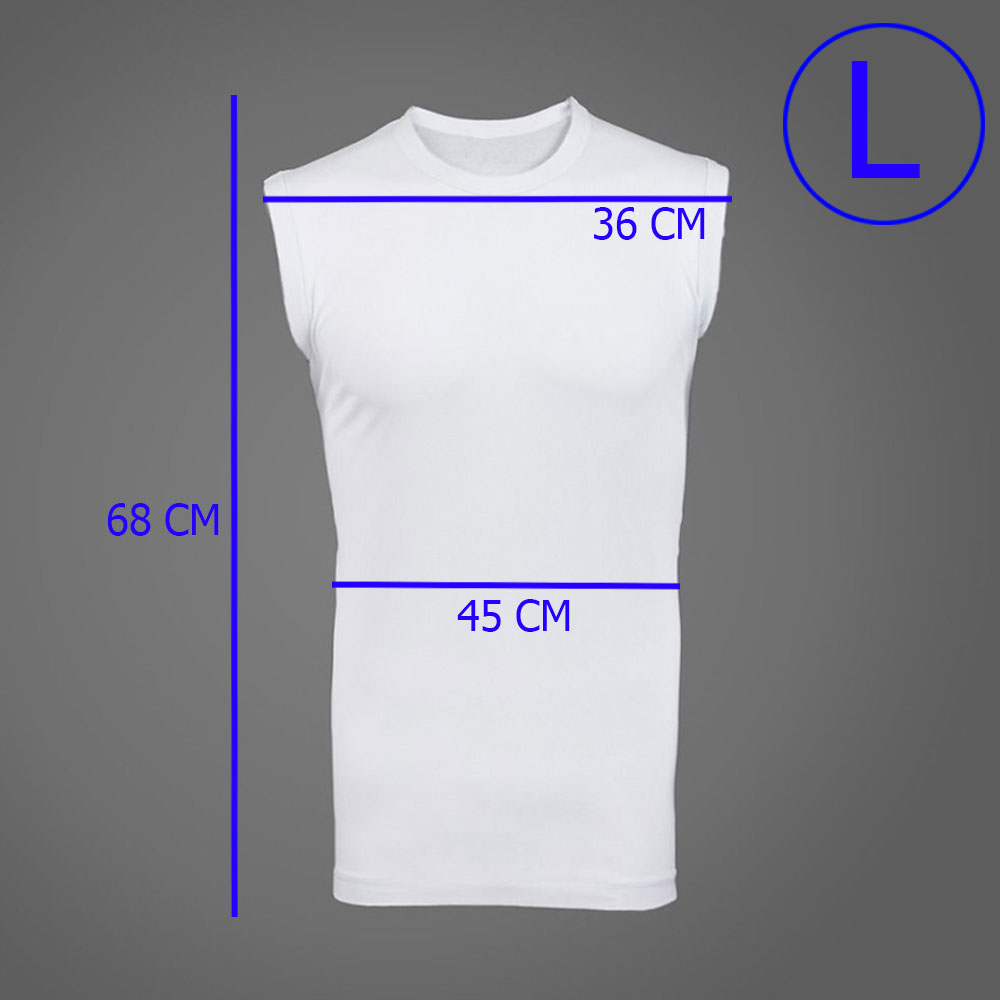 White Cotton Sleeveless Undershirt for adults With Size ( L) متجر 15 وأقل