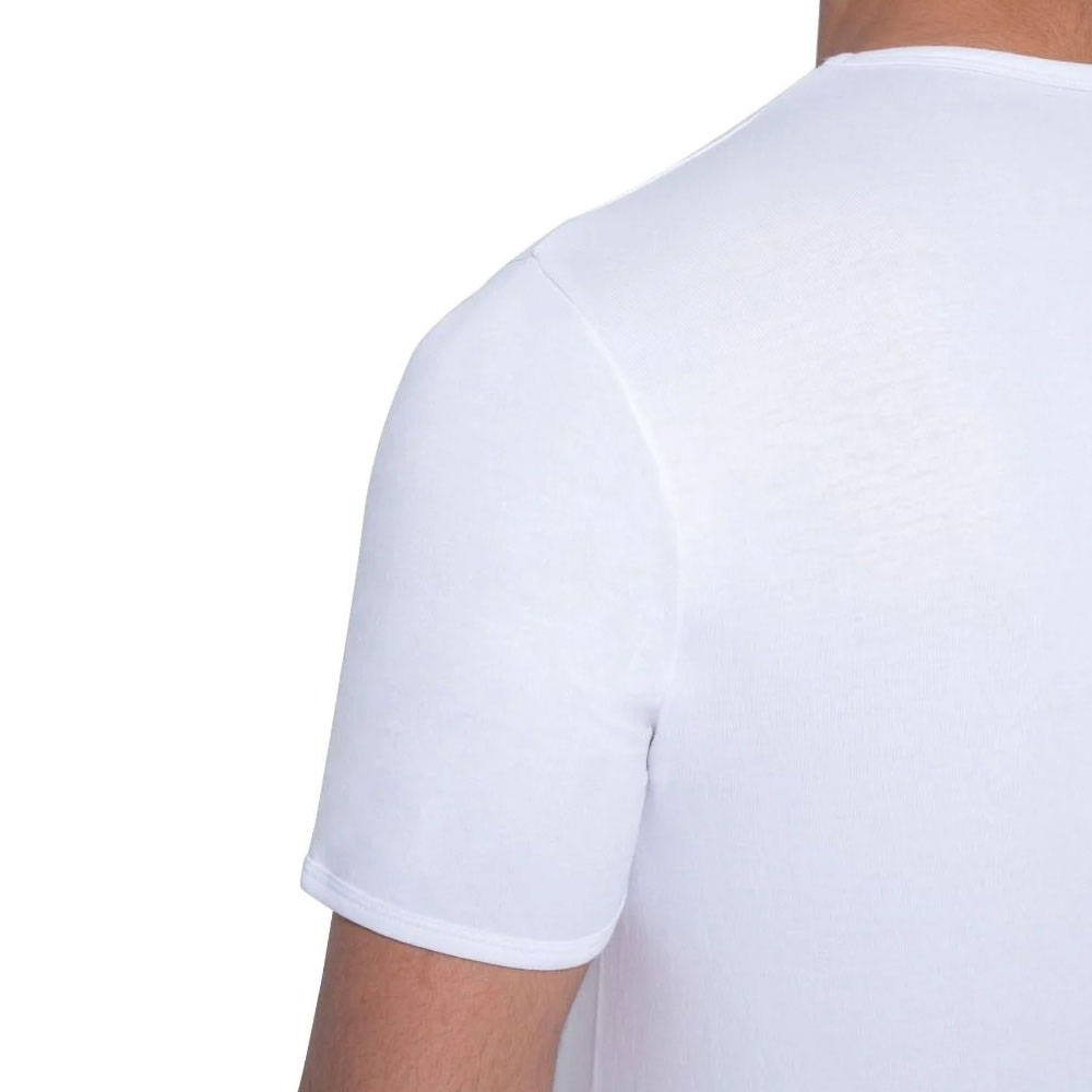 ( 2×L) فنايل داخلية قطنية بيضاء نصف كم للكبار مقاس متجر 15 وأقل
