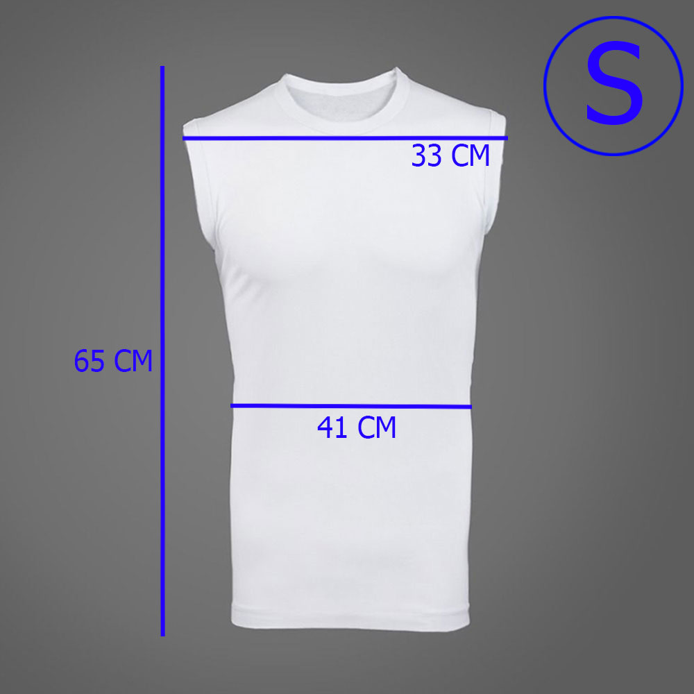 White Cotton Sleeveless Undershirt for adults With Size (S) متجر 15 وأقل