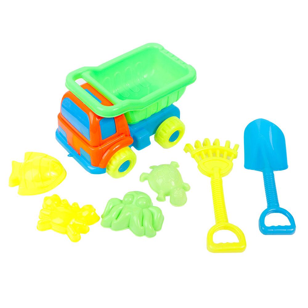 العاب الشاطىء والرمال للأطفال شاحنة مع أدوات حفر رمل مكونة من 6قطع متجر 15 وأقل
