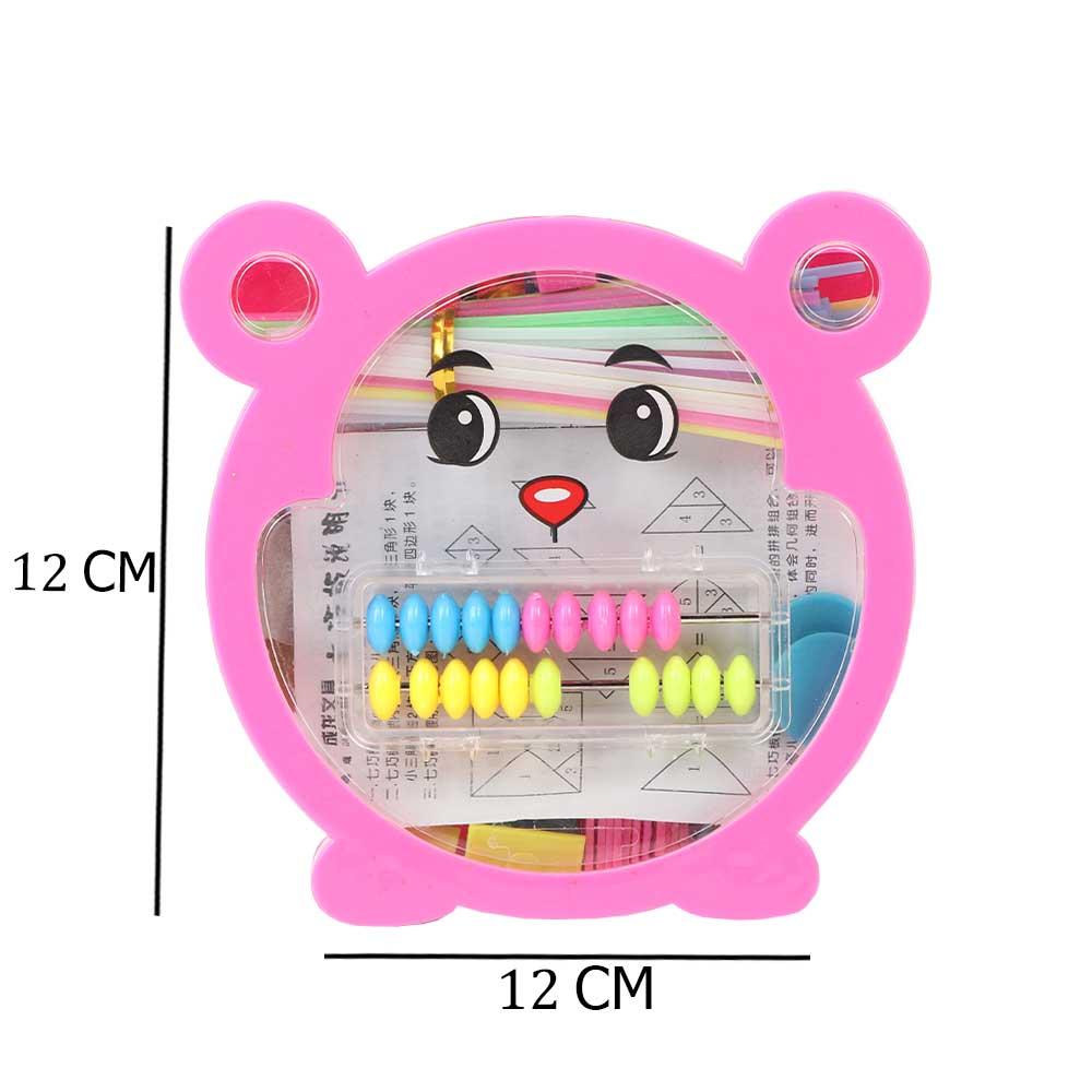 عداد بلاستيكي مميز لتعليم الأطفال الحساب لون وردي شكل دبدوب متجر 15 وأقل