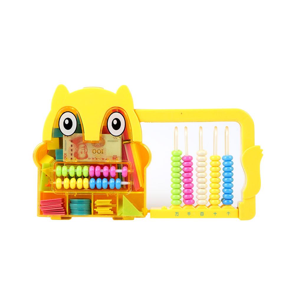 عداد بلاستيكي مميز لتعليم الأطفال الحساب والألوان لون أصفر شكل بومه متجر 15 وأقل