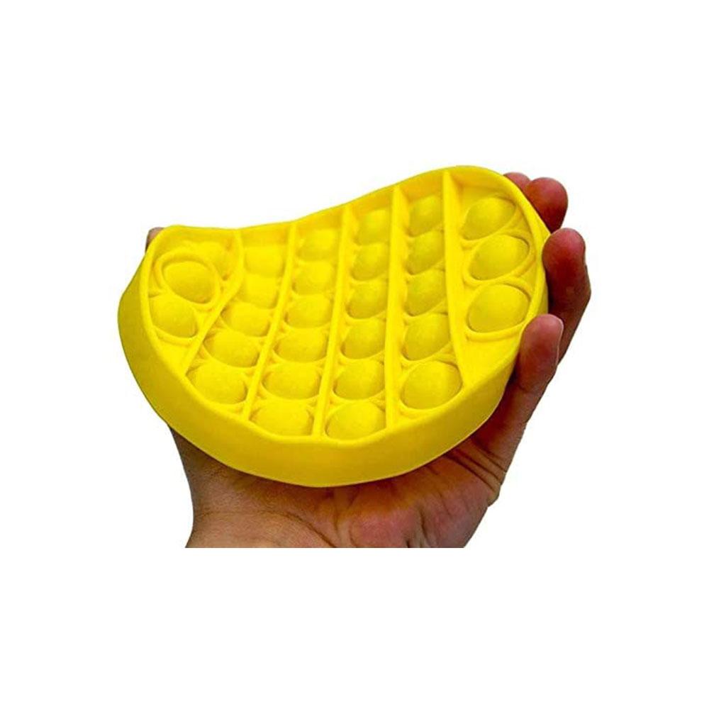 لعبة جو بوب الحسية التعليمية للإسترخاء و لتخفيف التوتر من السيليكون مستديرة لون أصفر متجر 15 وأقل