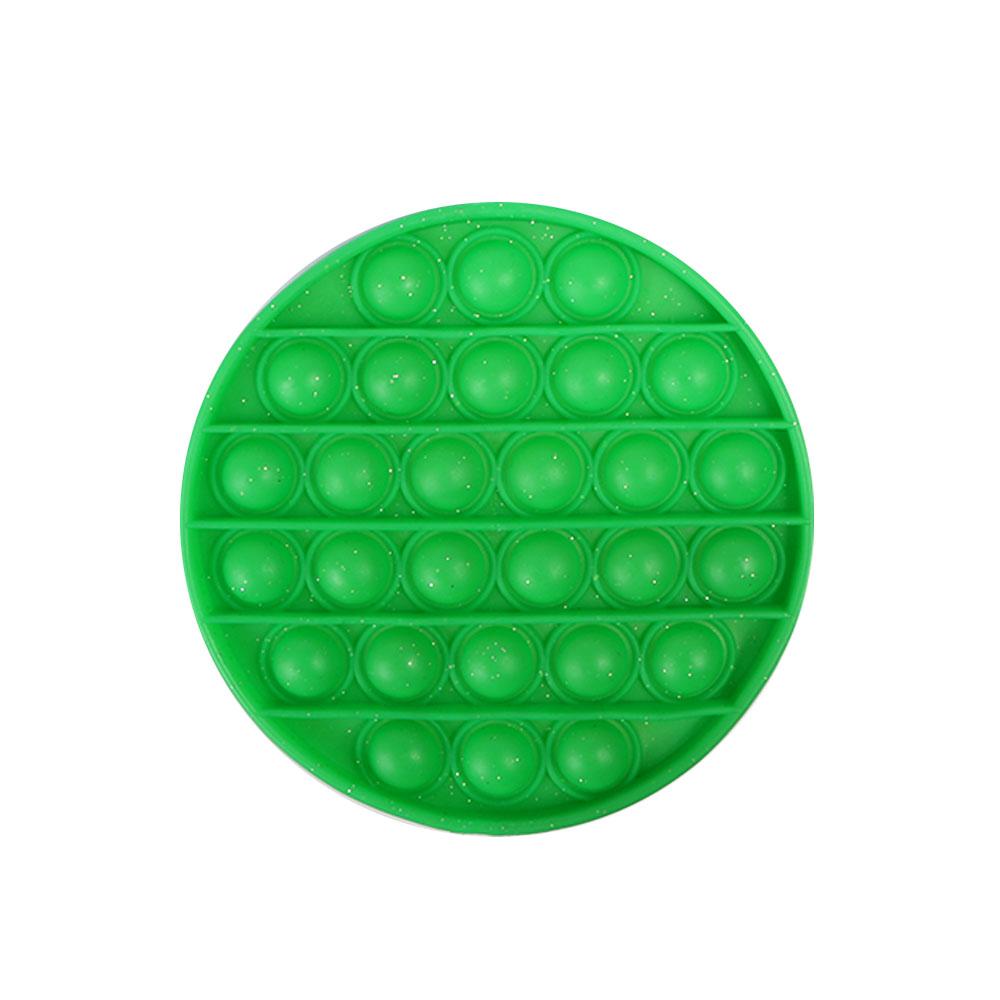 لعبة جو بوب الحسية التعليمية للإسترخاء و لتخفيف التوتر من السيليكون مستديرة لون أخضر متجر 15 وأقل