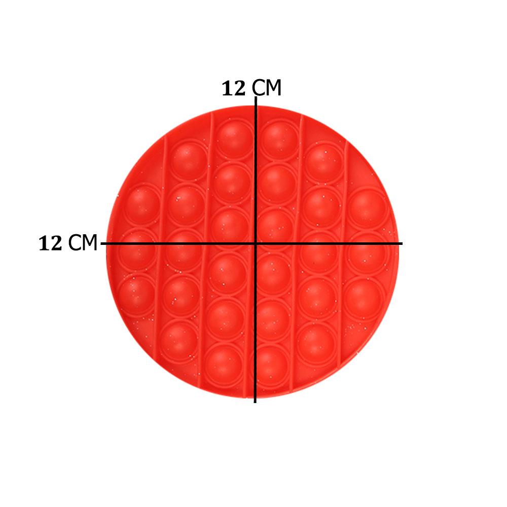 لعبة جو بوب الحسية التعليمية للإسترخاء و لتخفيف التوتر من السيليكون مستديرة لون أحمر متجر 15 وأقل