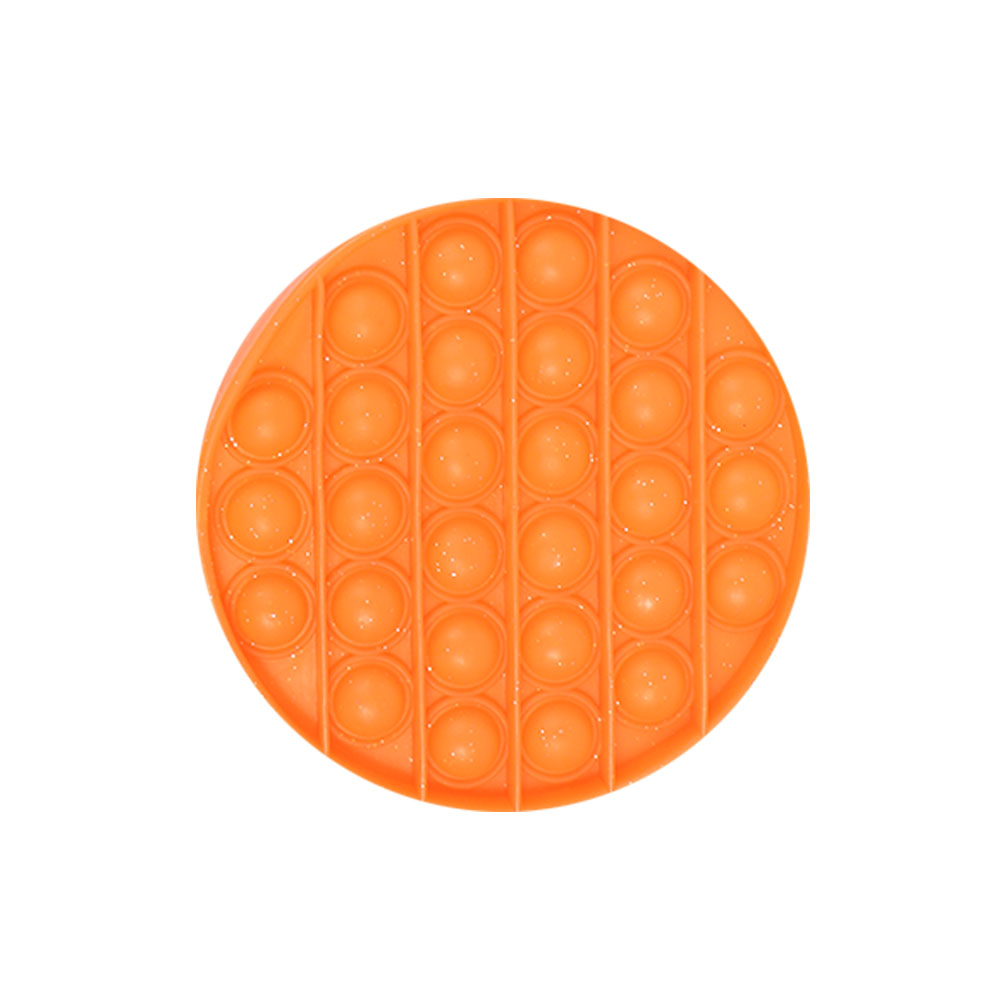 لعبة جو بوب الحسية التعليمية للإسترخاء و لتخفيف التوتر من السيليكون مستديرة لون برتقالي متجر 15 وأقل
