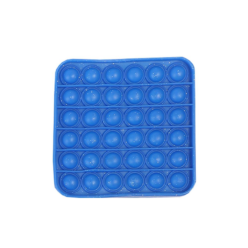 لعبة جو بوب الحسية التعليمية للإسترخاء و لتخفيف التوتر من السيليكون مربع لون أزرق متجر 15 وأقل