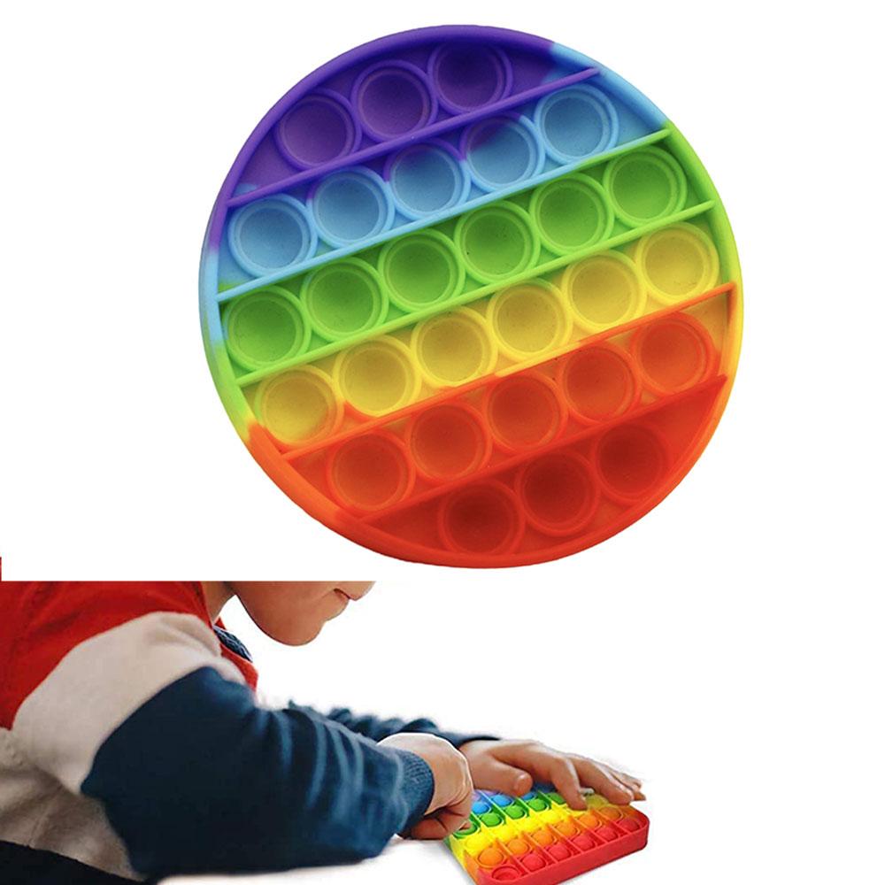 لعبة الحسية للإسترخاء و لتخفيف التوتر من السيليكون دائري بألوان قوس قزح متجر 15 وأقل