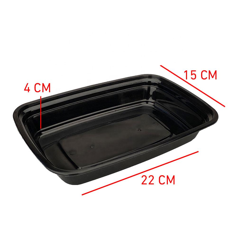 علب بلاستيكية أسود مستطيلة مع غطاء شفاف 7 قطع 1000ملم متجر 15 وأقل