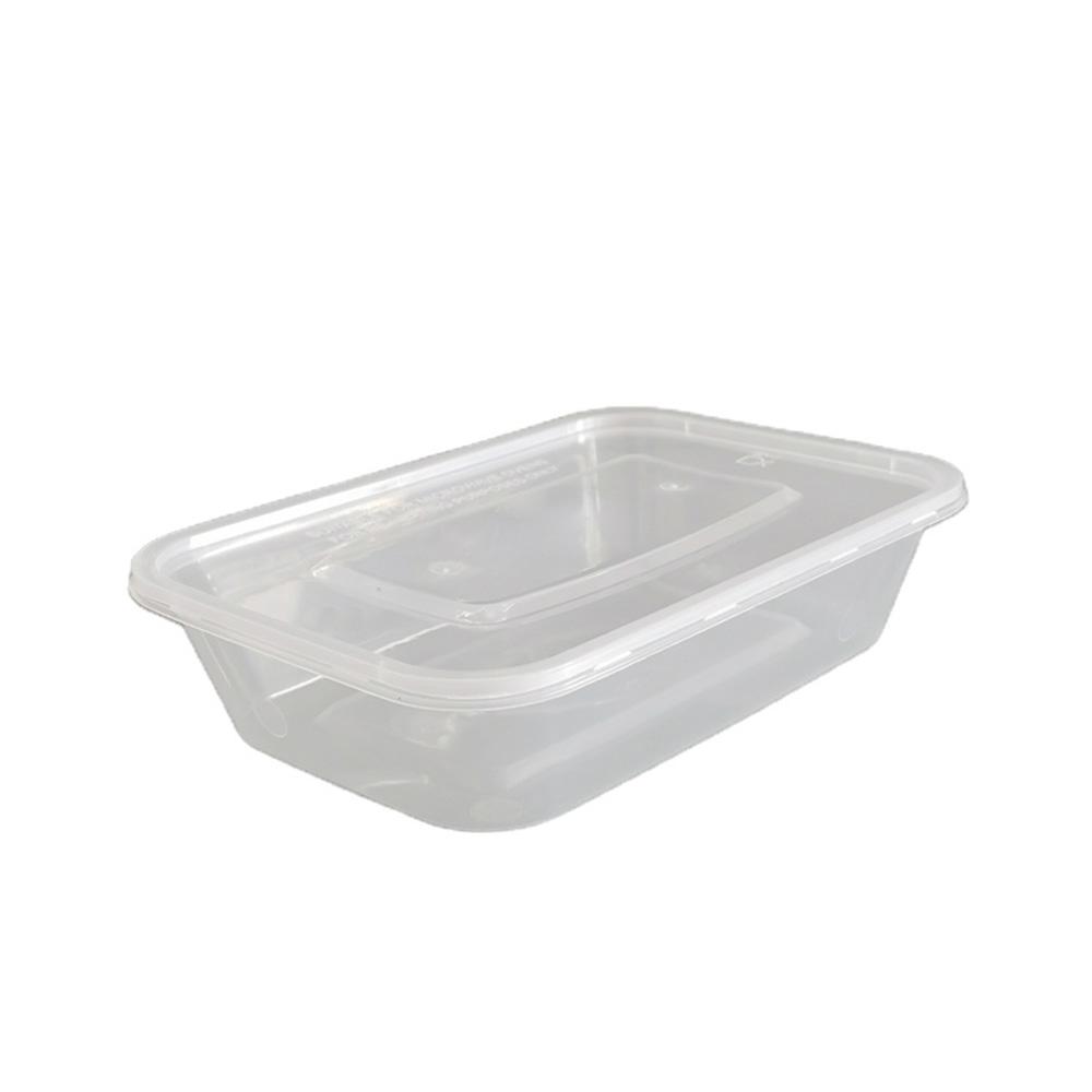 علب بلاستيكية شفافة مستطيلة مع غطاء 6 قطع 1250ملم متجر 15 وأقل