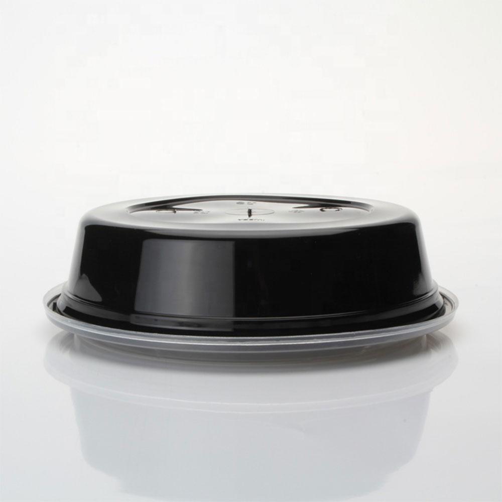 علب بلاستيكية أسود دائرية مع غطاء شفاف 10 قطع 700 ملم متجر 15 وأقل