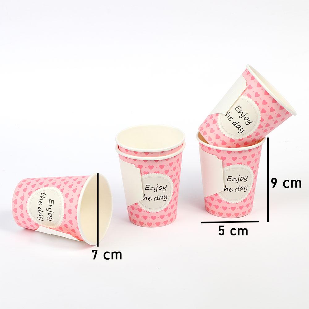 كاسات ورقية للقهوة والشاي9 أونص بمسكة يد 72 قطعة لون وردي متجر 15 وأقل