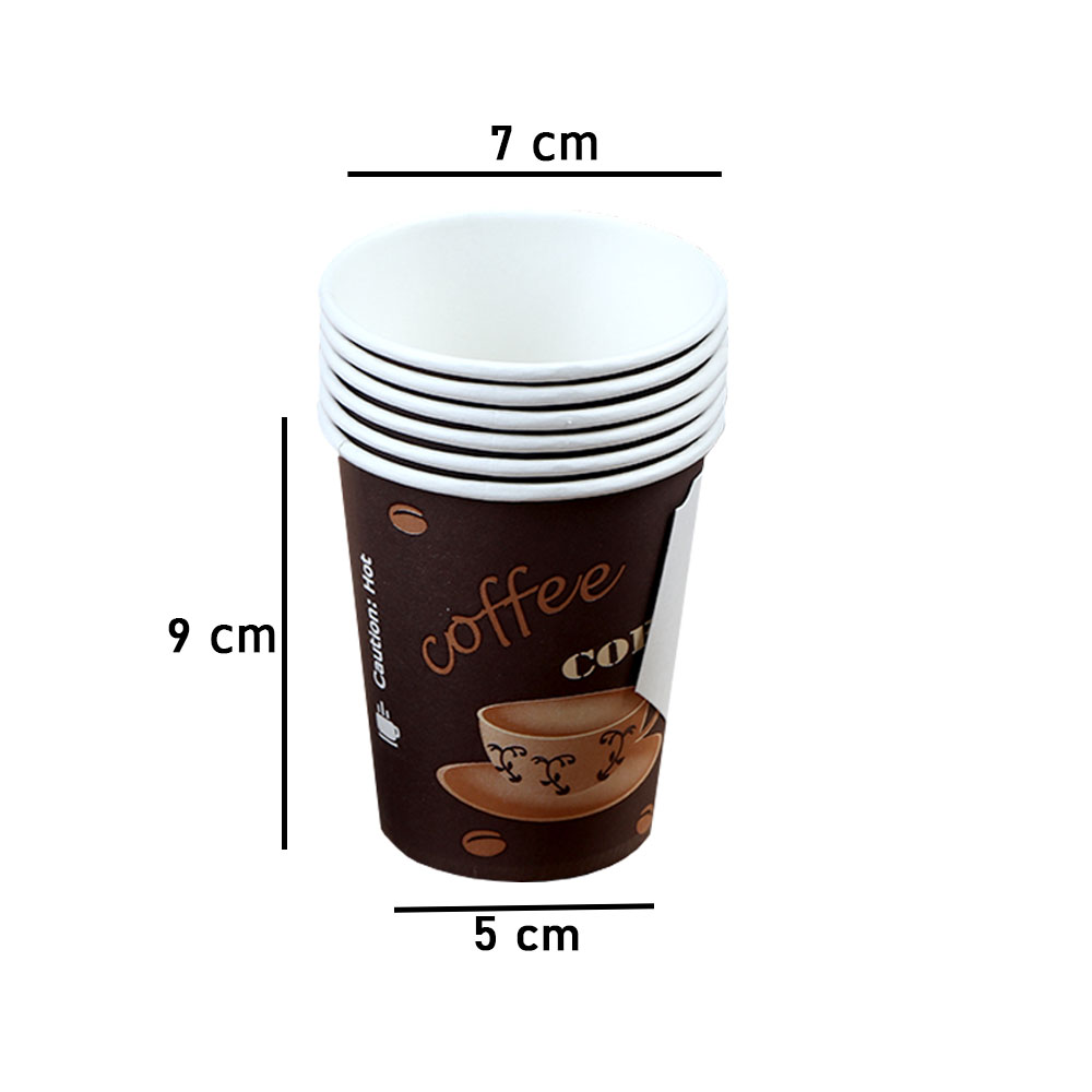 Paper Cup For Coffee And Tea 9oz With Handle 72Pcs light brown متجر 15 وأقل
