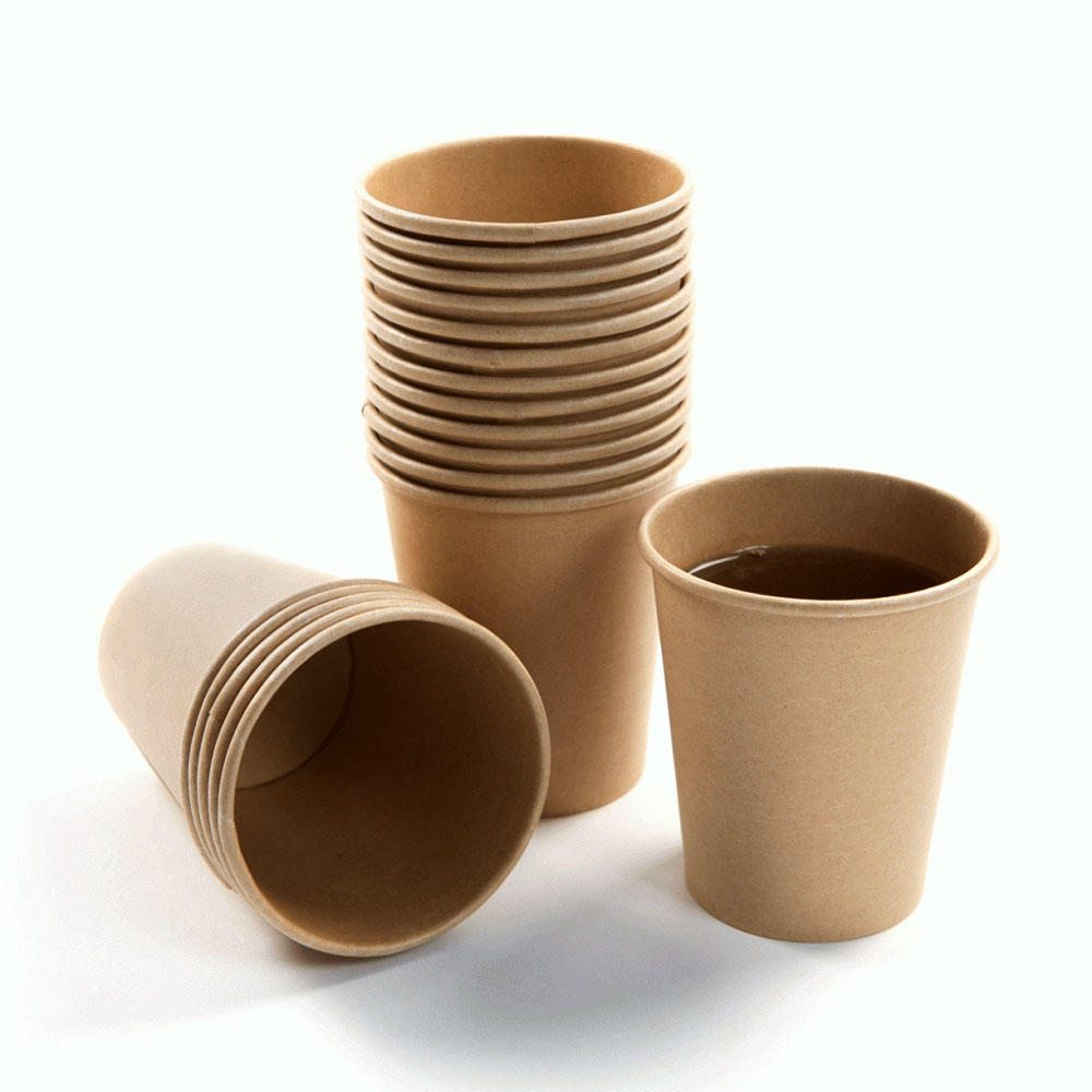 كاسات ورقية للقهوة سعة 2.5 أونص حجم صغير عدد 120 قطعة لون بني متجر 15 وأقل
