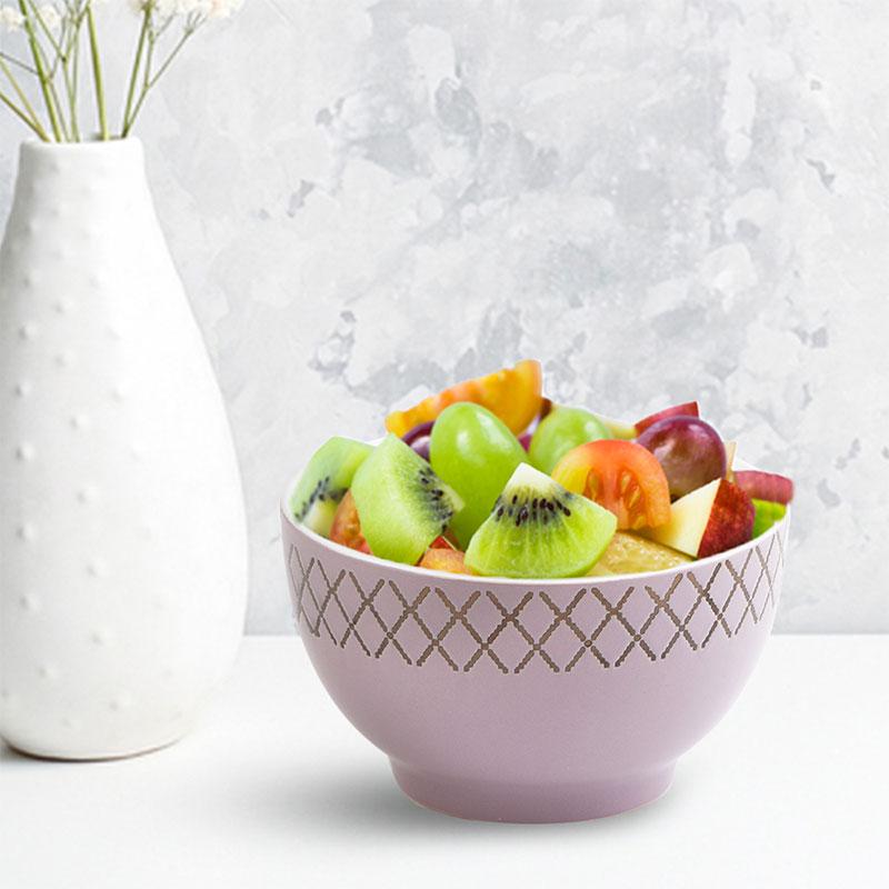 Deep Circular Dish - Purple Bowl Decorated With Geometric Pattern متجر 15 وأقل