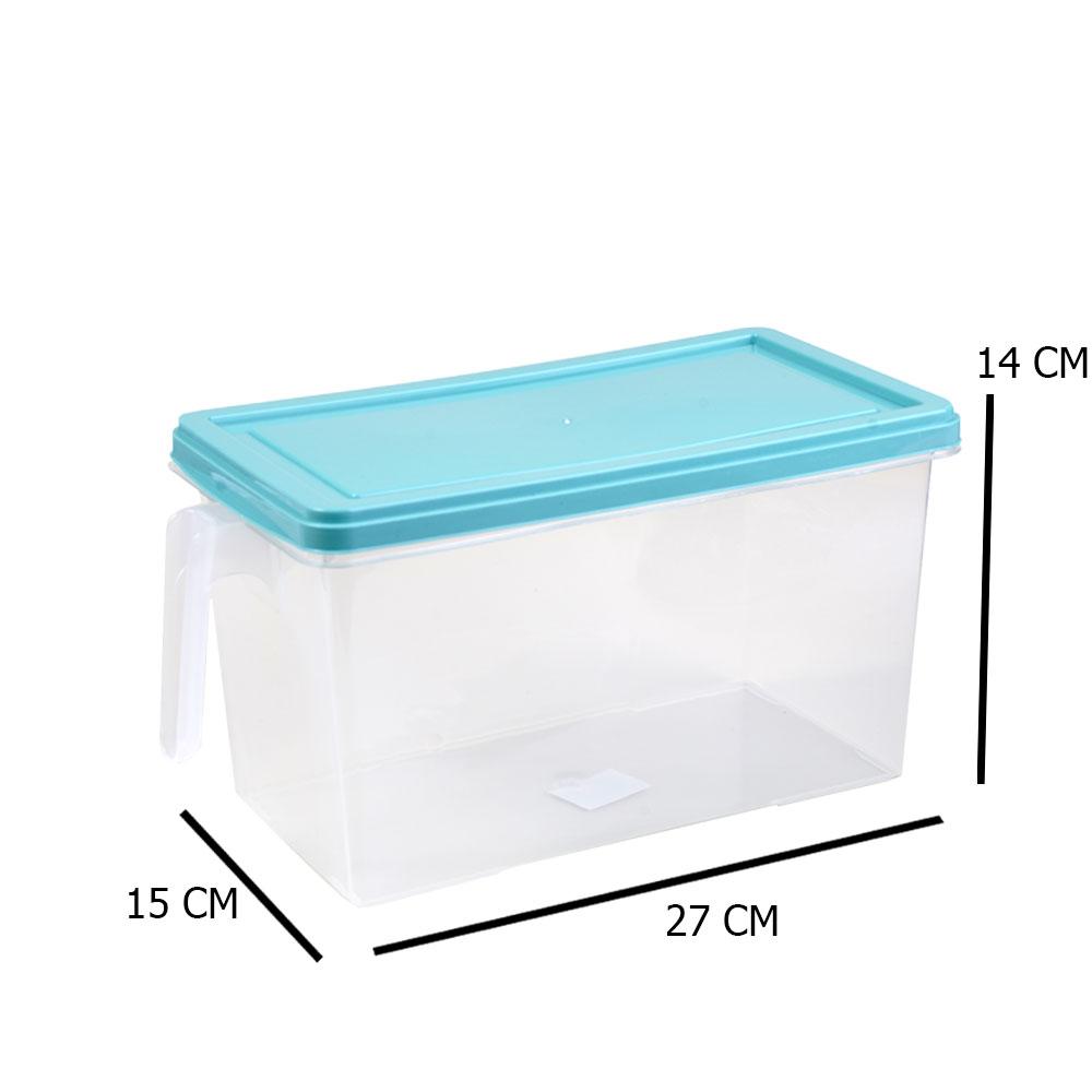 Food Regulator - Large Rectangular Tiffany Cover Fruit And Vegetable Storage Box 27×14×15 Cm متجر 15 وأقل