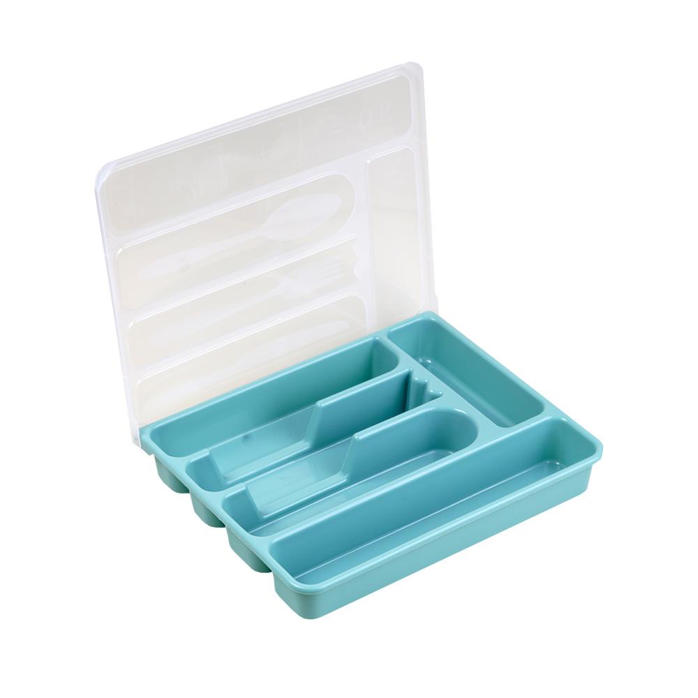 منظم - مقسم لأدوات الطعام بلاستيك مستطيل تيفاني ذو غطاء شفاف 24×29سم متجر 15 وأقل