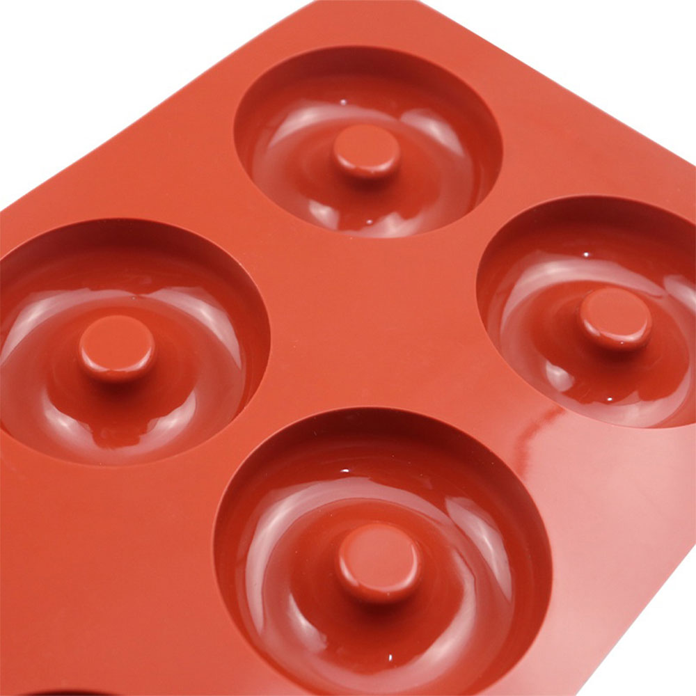 Cake - Cup Cake Mold Silicon With Round Design Consists 6 Places Red متجر 15 وأقل