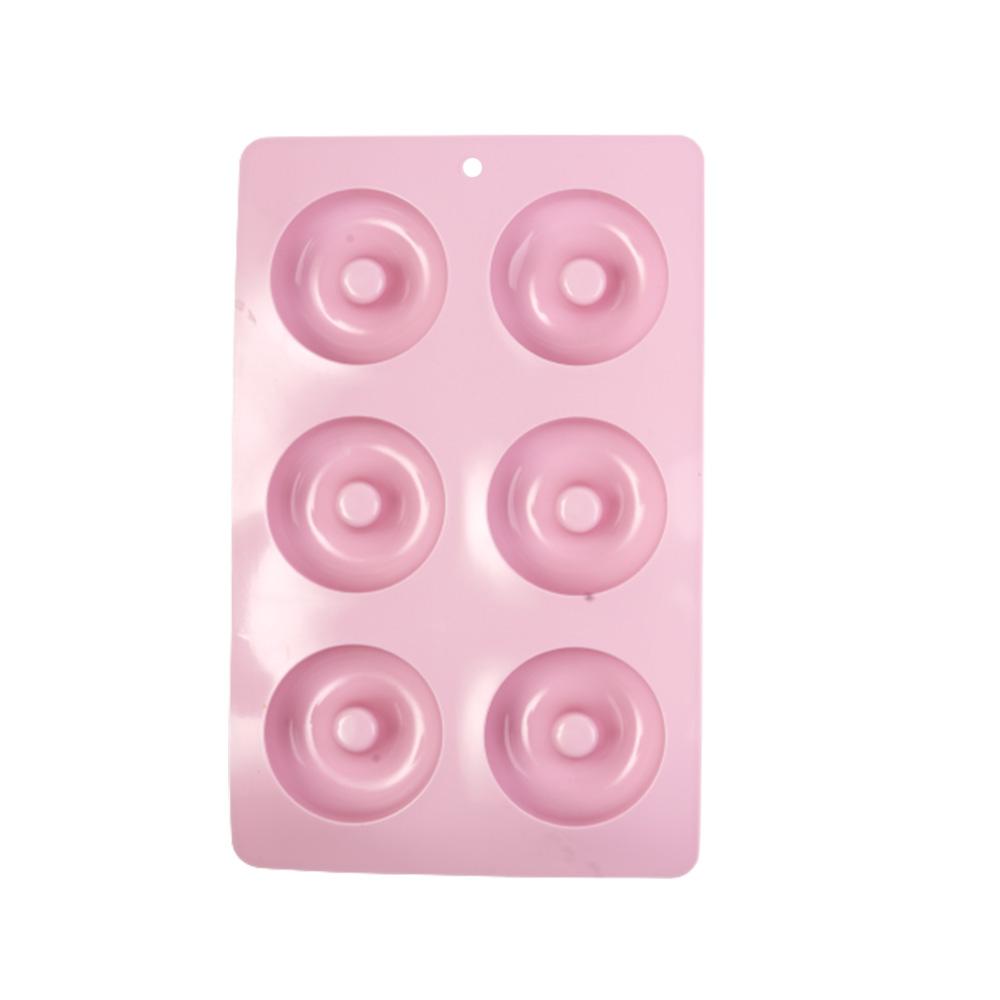 قالب كيك -كاب كيك سيليكون بتصميم دوائر مكون من 6 خانات وردي متجر 15 وأقل