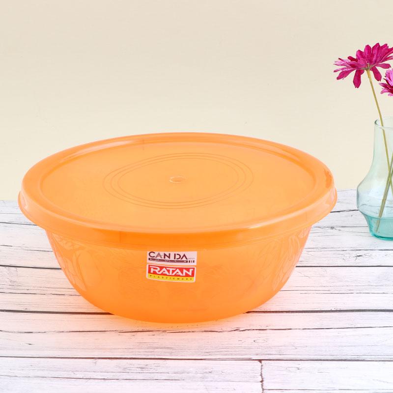 وعاء بلاستيكي لخبز وحفظ العجين بغطاء قابل للغلق - برتقالي متجر 15 وأقل