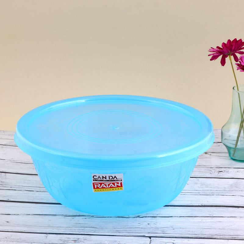 وعاء بلاستيكي لخبز وحفظ العجين بغطاء قابل للغلق - أزرق متجر 15 وأقل