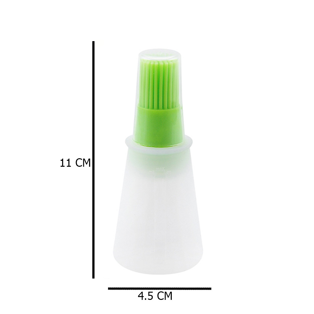 Silicone Oil Brush With Transparent Plastic Oil Container With 60mm Green متجر 15 وأقل