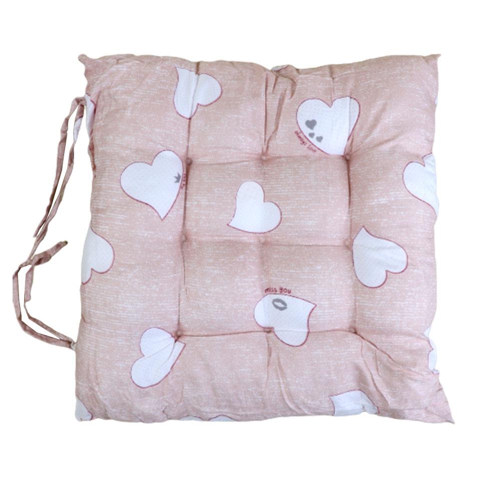 وسادة - خدادية كرسي قطنية لينة مربعة الشكل برسومات قلوب لون خربزي متجر 15 وأقل