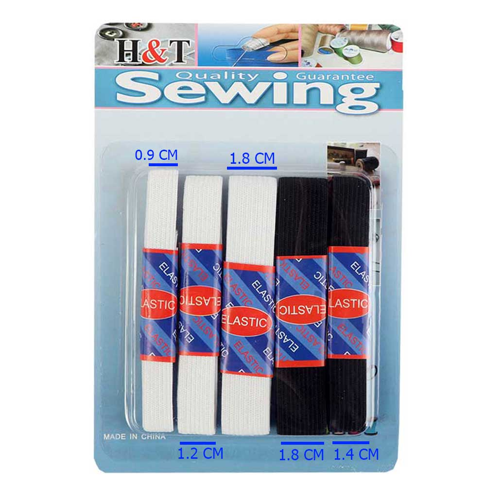 Flexible Rubber In Different Sizes With Black-White Colors 5 Pcs متجر 15 وأقل