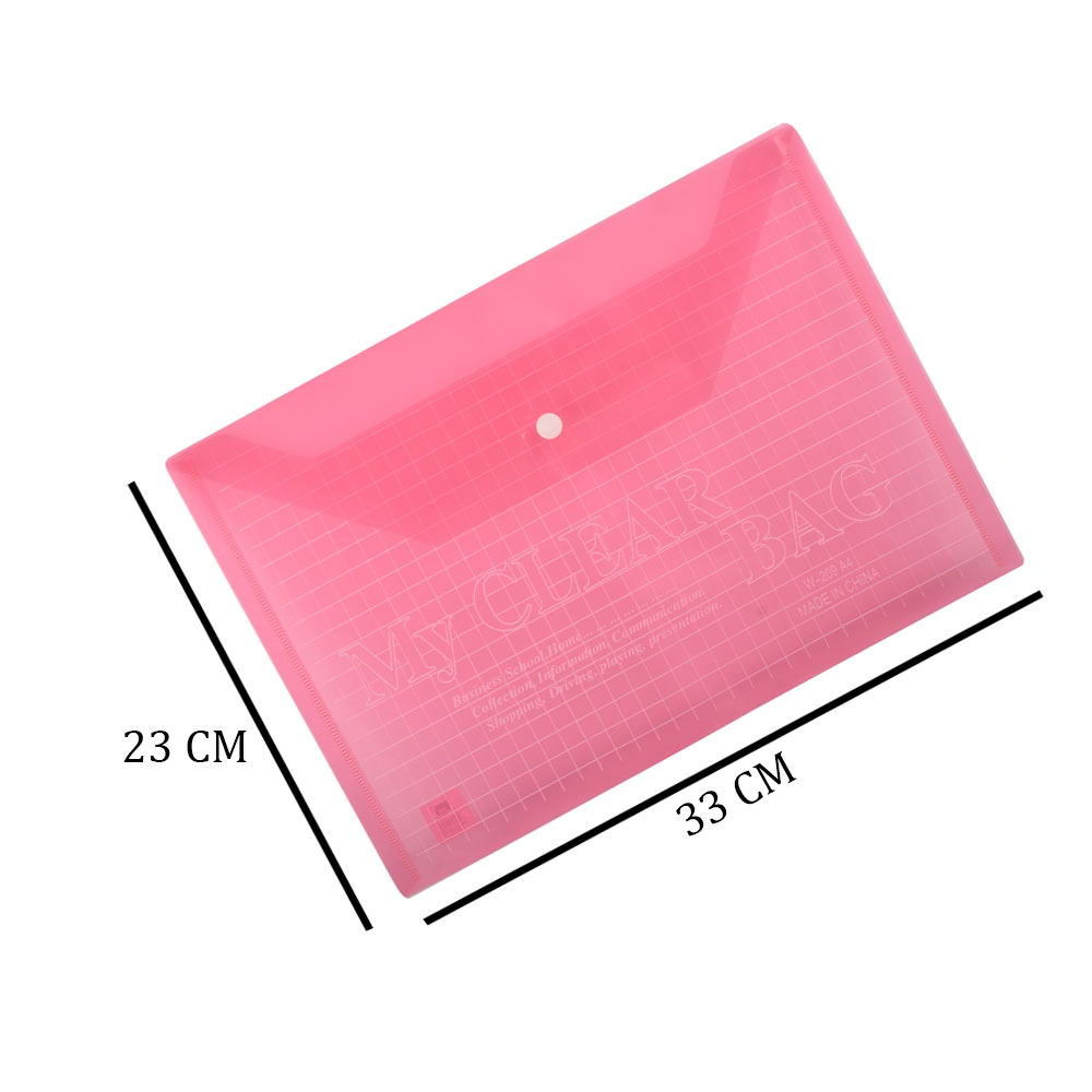 Plastic File To Keep Sheets With Transparent Striped Lock Red متجر 15 وأقل