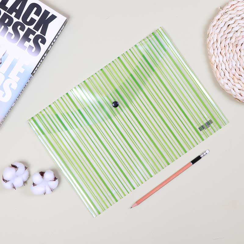 Plastic File To Keep Paper Lockable With Transparent Green Striped متجر 15 وأقل