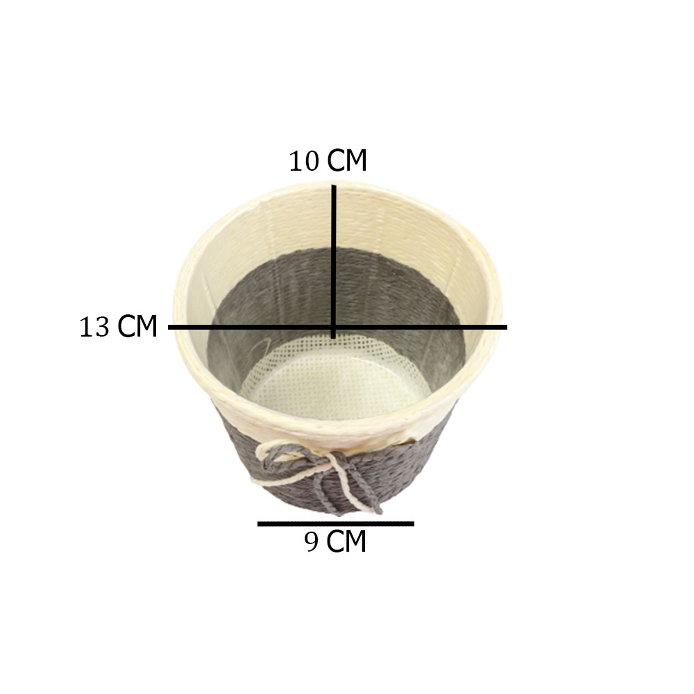 مزهرية خزف دائرية وسط متعددة الاستخدام بلون بيج - رمادي متجر 15 وأقل