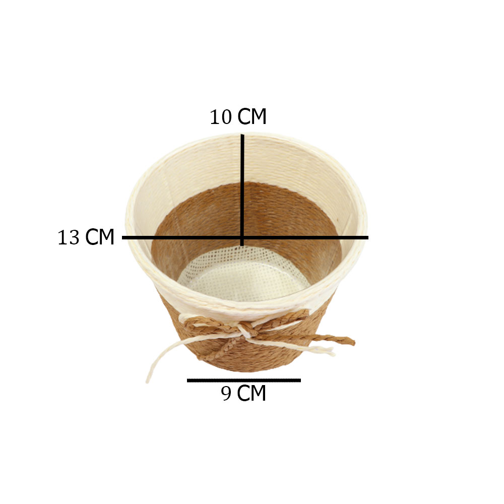 مزهرية خزف دائرية وسط متعددة الاستخدام بلون بيج - بني متجر 15 وأقل