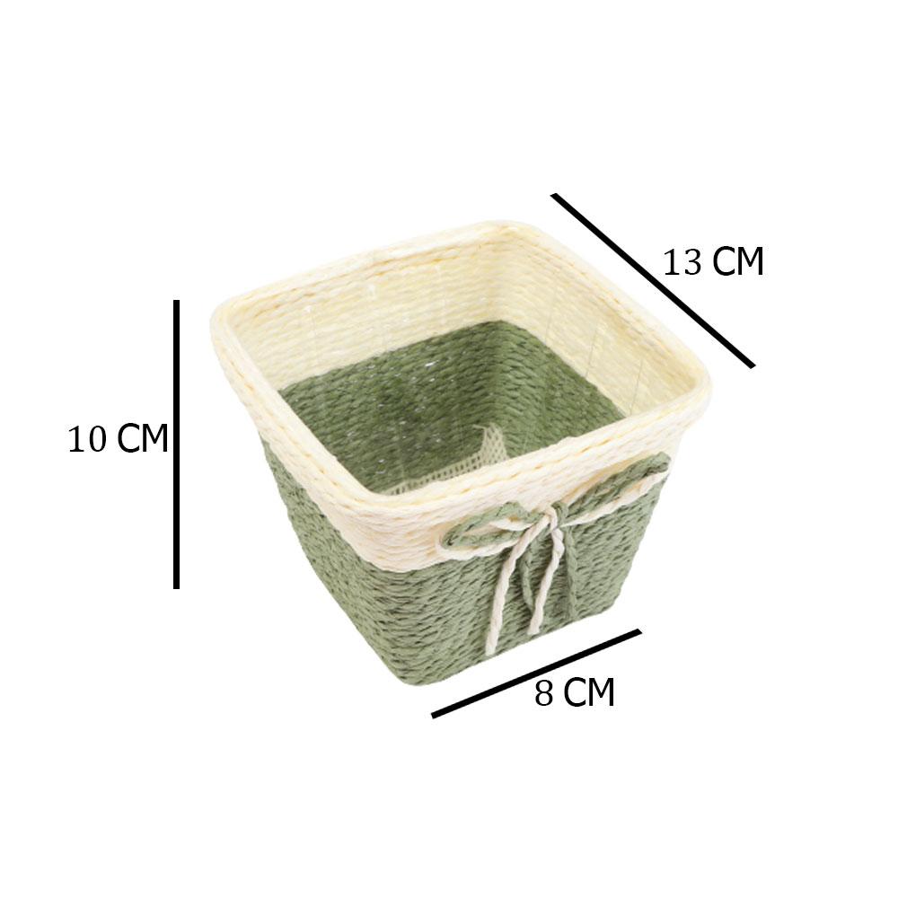 مزهرية خزف مربعة وسط متعددة الاستخدام بلون بيج - أخضر متجر 15 وأقل