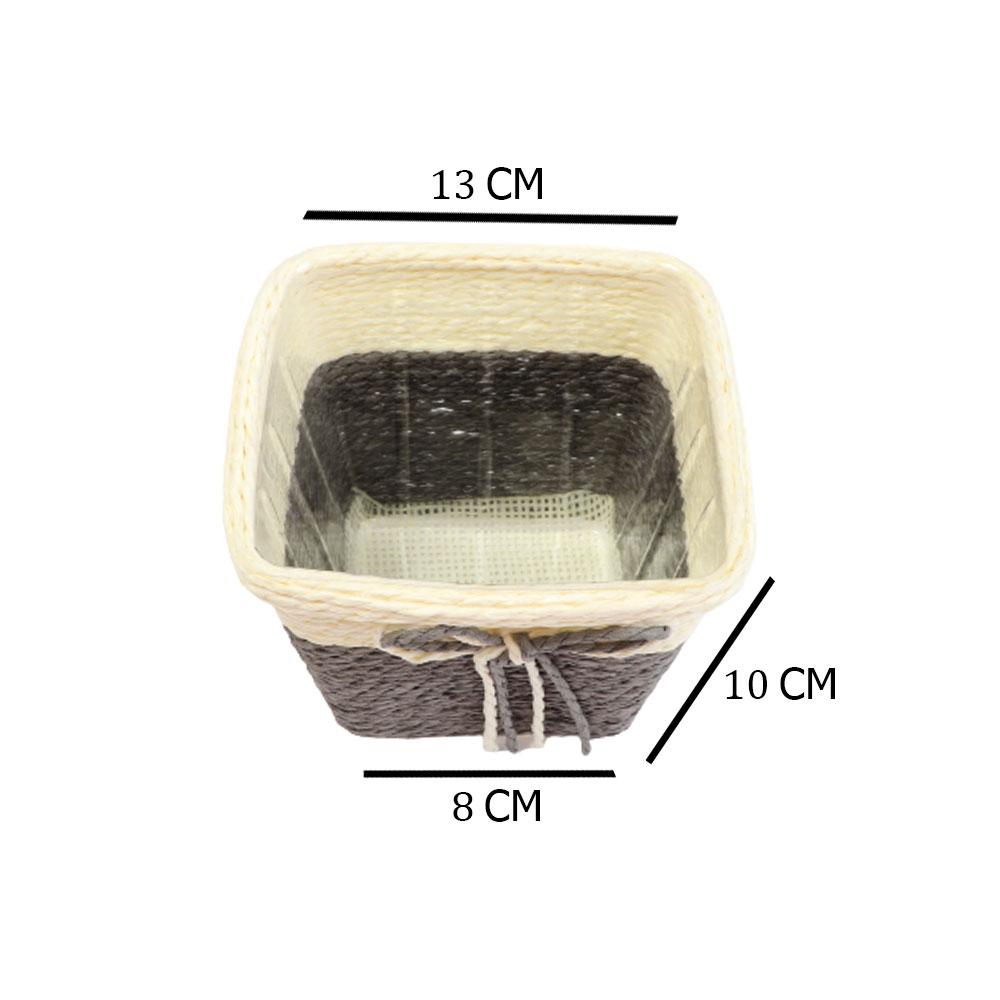 Square Pottery Vase Multi Use In Beige - Gray متجر 15 وأقل