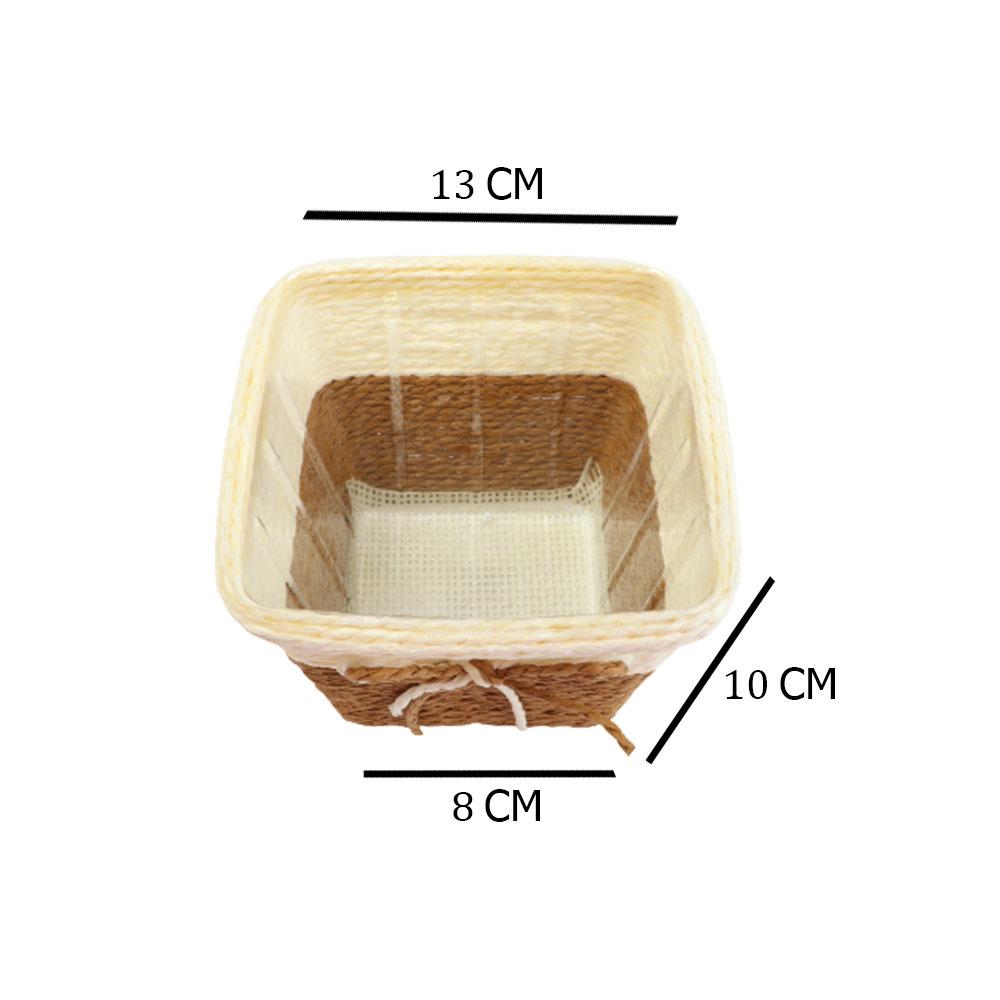 مزهرية خزف مربعة وسط متعددة الاستخدام بلون بيج - بني متجر 15 وأقل
