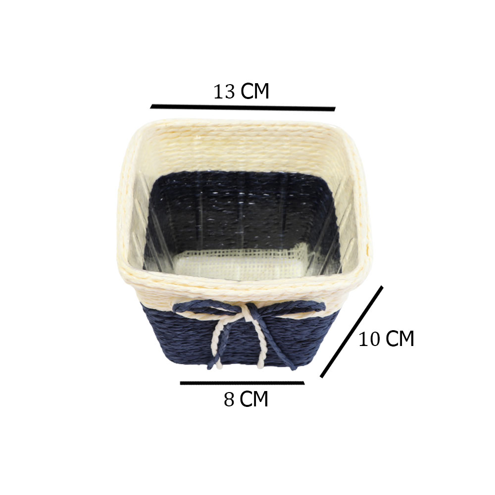 مزهرية خزف مربعة وسط متعددة الاستخدام بلون بيج - أزرق متجر 15 وأقل