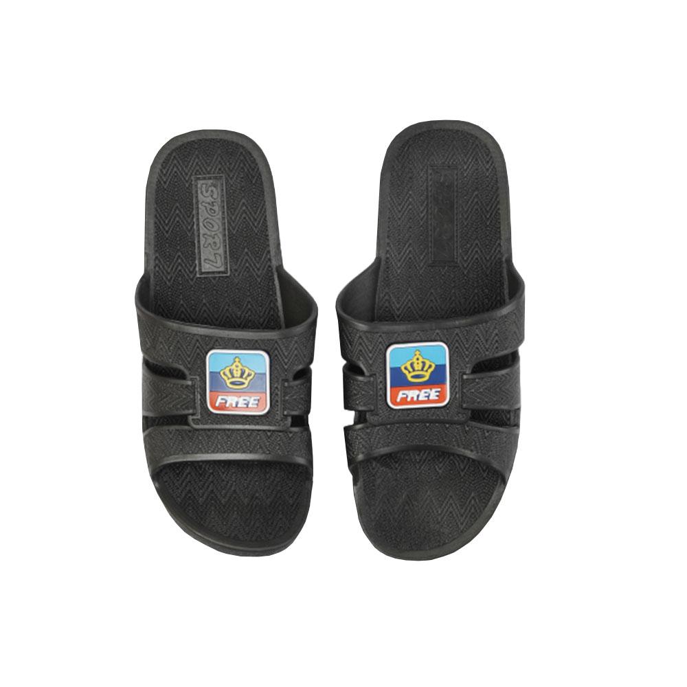 حذاء - شبشب حمام مطاطي خفيف مقاس 42 لون أسود متجر 15 وأقل